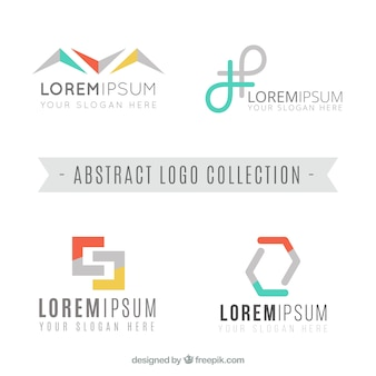 Several company logos with abstract forms