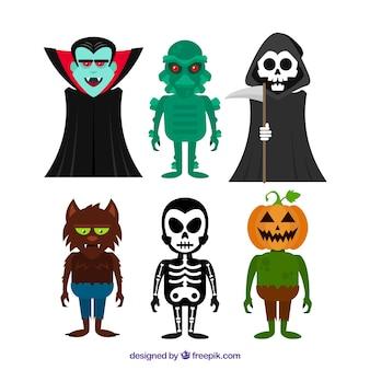 Several creepy characters