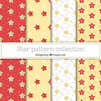 Several cute patterns with stars