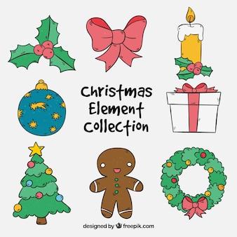 いくつかの装飾クリスマスの要素