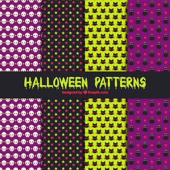 Several decorative patterns to celebrate halloween