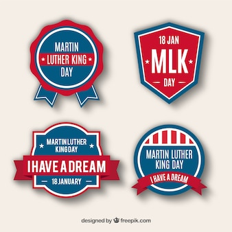 Several decorative stickers for martin luther king day