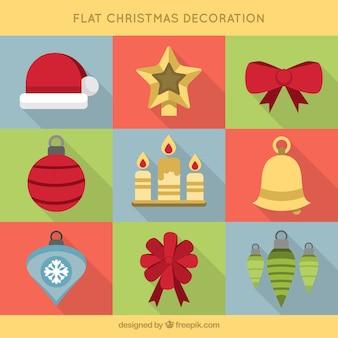 크리스마스 축하를위한 몇 가지 평면 개체