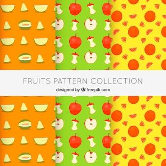 いくつかのフルーツパターン
