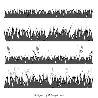 Several grass silhouettes