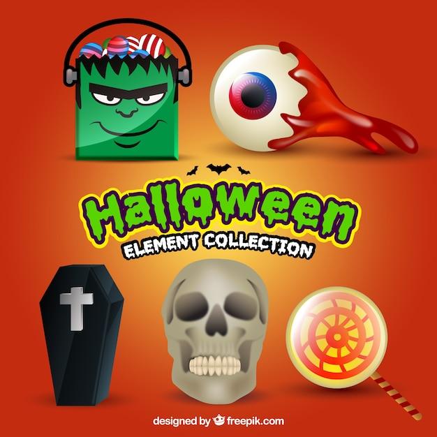 Diversi oggetti di halloween