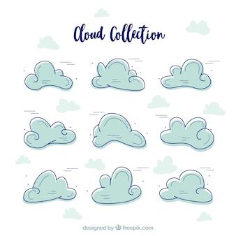 Несколько рисованной облака