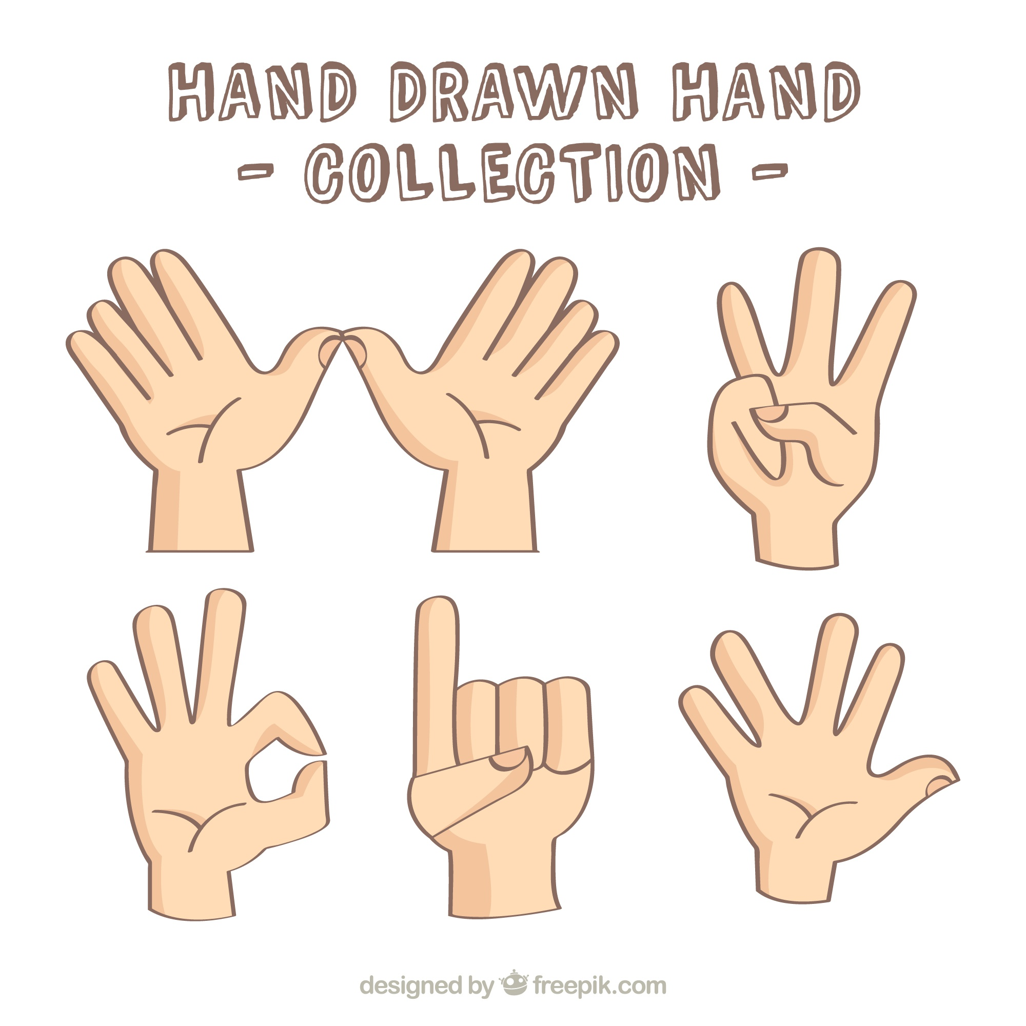 Several hands showing signs