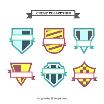 抽象的なデザインのいくつかの紋章の盾