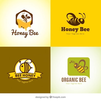 Several honey logotypes