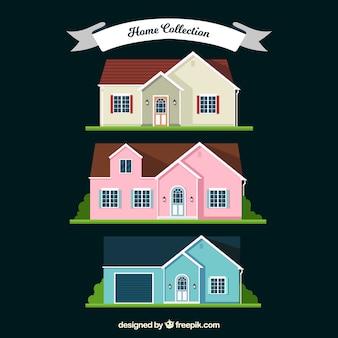 Diverse case a struttura piatta