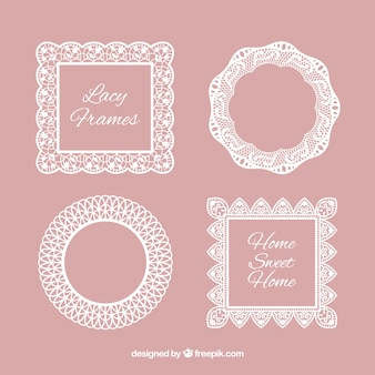 Several lace frames