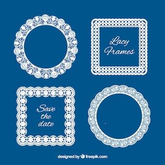 Several lace vintage frames