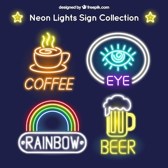 Several local neon signs