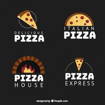 Several pizzeria logos