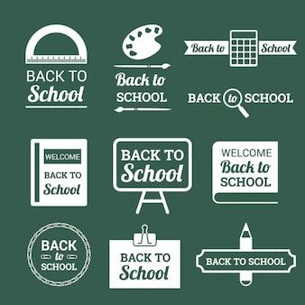 Обратно в школу логотипы и эмблемы