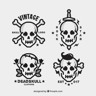 Diversi i loghi cranio in design piatto