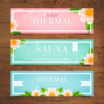 Several spa sale banners