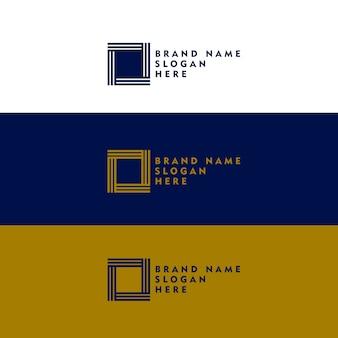 Концепция дизайна логотипа с минимальной квадратной формой