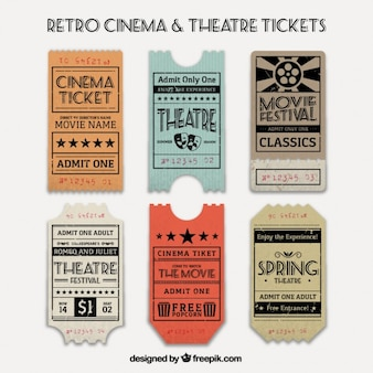 Several vintage cinema and theatre tickets