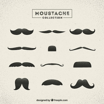Several vintage mustaches