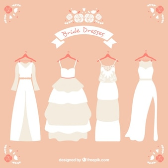 Several wedding dress