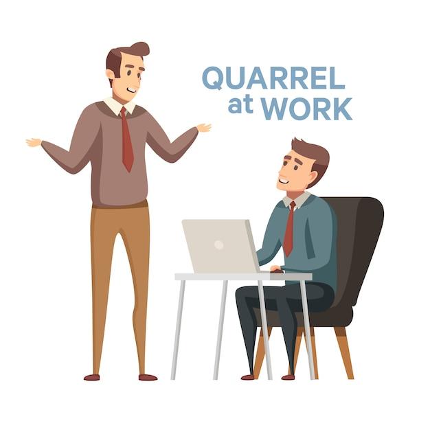 Жесткая деловая конкуренция, командная ссора или конфликт. общение между людьми. спорят, конфликтная ситуация и спор. сцена в офисе.