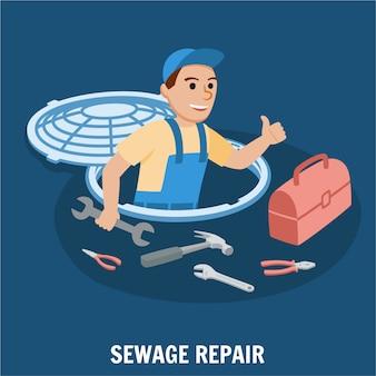 Sewage repair