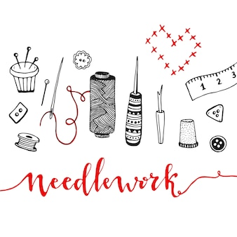 Sewin tools. vector illustration