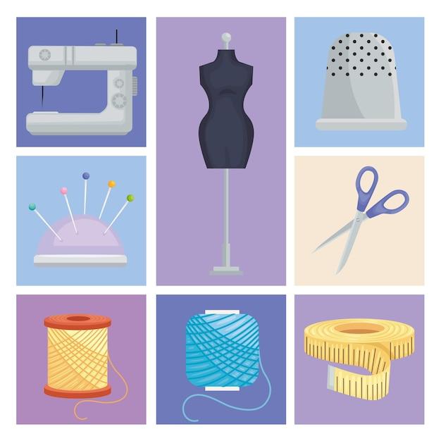 縫製と仕立てのアイコン
