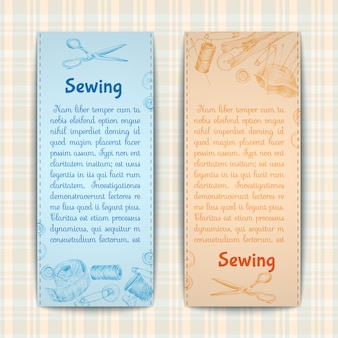 Sewing banner template set