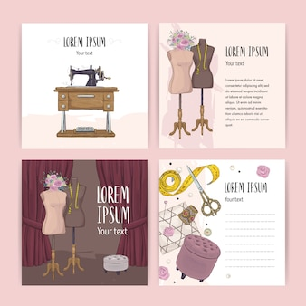 Sewing card set