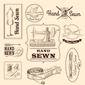 Sewing emblems set