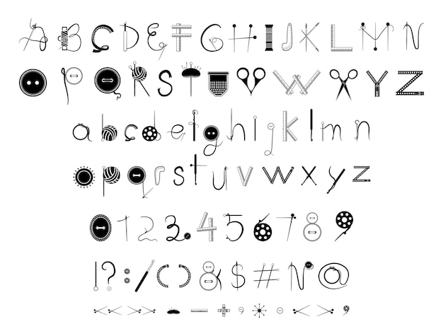 재봉 글꼴