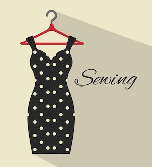 Sewing garments isolated icon design