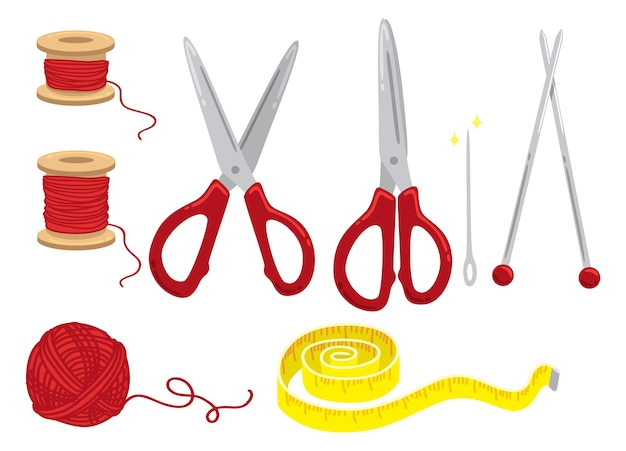 Sewing kit illustration