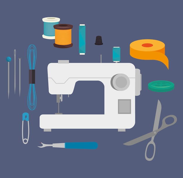 Sewing kit isolated icon design