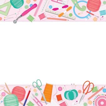 ソーイングキット、裁縫道具、アクセサリーフレーム