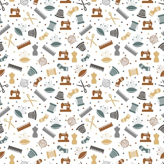 Sewing or knitting seamless pattern