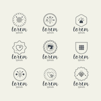Sewing logo collection