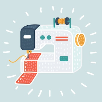 Sewing machine icon.  illustration of sewing machine  icon for web