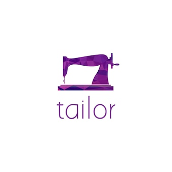 Sewing machine logo graphic design concept. editable sewing machine element, can be used as logotype, icon, template in web and print