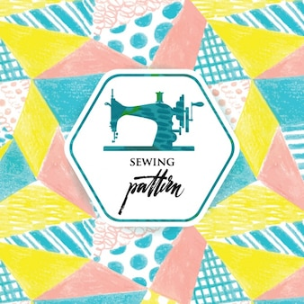 Sewing pattern design Free Vector