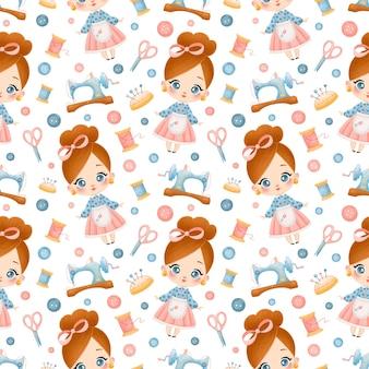 완벽 한 패턴을 바느질. 바느질 패턴. 뜨개질, 크로 셰 뜨개질, 자수 패턴.