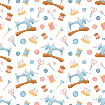 완벽 한 패턴을 바느질. 바느질 패턴. 뜨개질, 크로 셰 뜨개질, 자수 패턴. 프리미엄 벡터