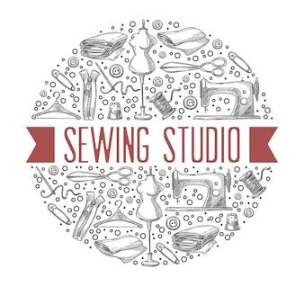 マスタークラスのレッスンを提供する縫製スタジオアトリエ