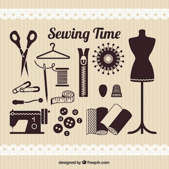 Sewing time elements