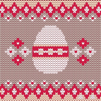 Sewn background of easter egg