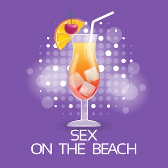Sex on beach cocktail