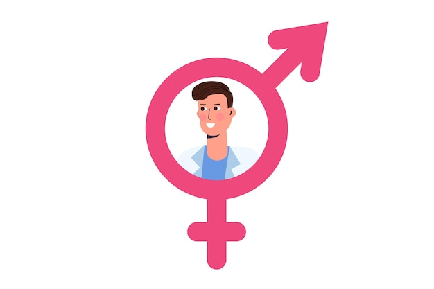 Sexologist consultation icon,  psychological sexual problems and health. vector illustration.